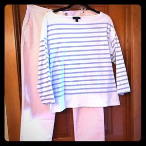 Boatneck 3/4 sleeve cotton top
